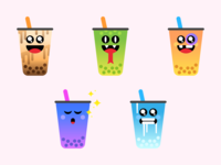 Boba Yeah iOS sticker pack