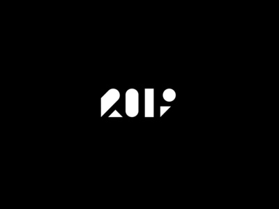 2019 branding numbers newyear logotype logo year happy 2019
