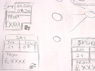 Villa Availability Component Design ui design date picker component design sketch