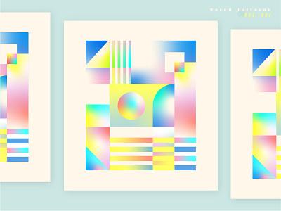 Bored Patterns Vol. 1 color vintage geometric pastel art gradient vector pattern