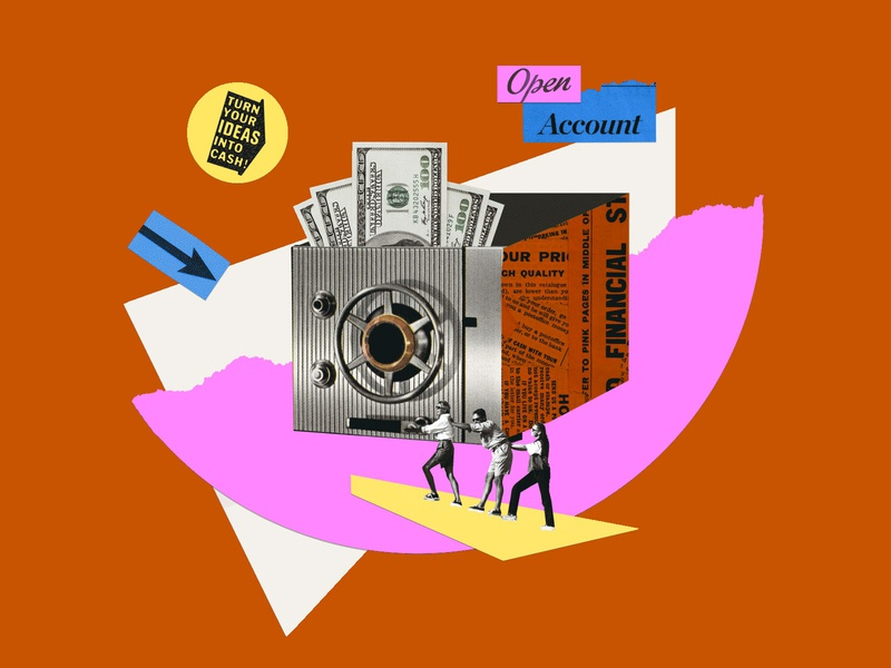 080720 personal finance color account investing design visual art collage