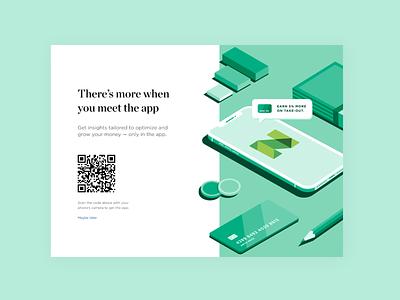 Illustration for the NerdWallet App rewards pencil creditcard money personal finance app isometric illustration