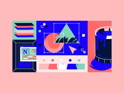 042821 blog illustration visual design creative process paint tools design process pattern texture