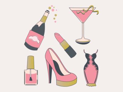 Bachelorette Party Illustrations