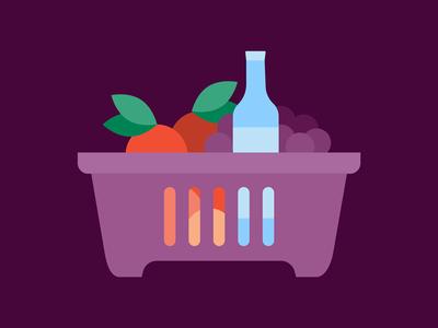 Groceries Exploration visual design groceries illustration