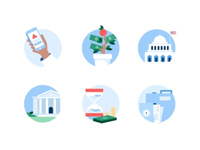 Bank Illustrations visual design content design mobile banking banks money personal finance adobe illustrator illustration