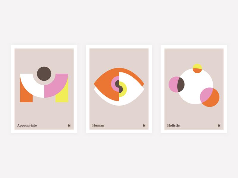 NerdWallet Design Vision Posters graphic design vision design vision shapes poster visual design geometric illustration
