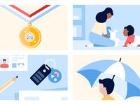 Auto + Life Insurance Illustrations