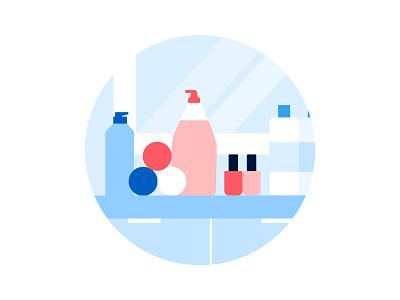 What's in your bathroom? graphic  design mirror soap bathroom vector illustration visual design