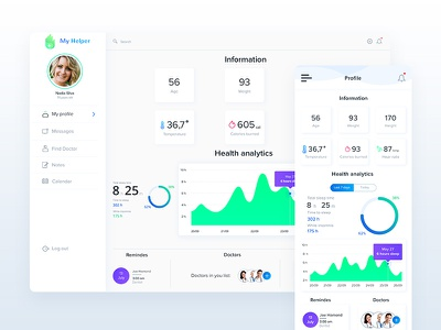 Patient Assistant App Dashboard web light dashboard health icon doctor ux ui app ios mobile interface