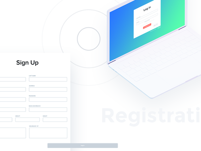 Registration form mockup ui ux interface clean simple process up sign application iphone ios