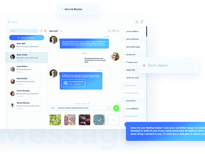 Message screen conversation web ux ui app message dashboard interface clean application user helth