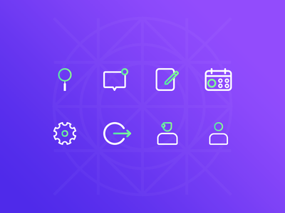 Icon set stickers app doctor logout setting calendar profile set icon search illustration