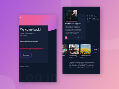 Event app Concept interface iphone ios concept ux ui mobile app event design colours