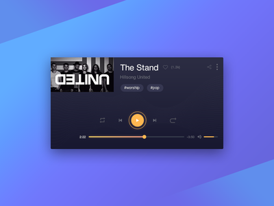 Daily UI challenge — Music Player ui play player music dailyui daily concept app