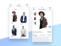 Daily UI challenge — Fashion App Screens
