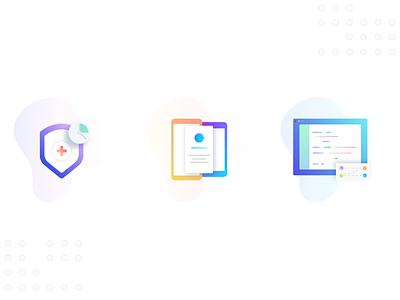 Icons medicine mobile dashboard illustrator app ui design time synchronization simple icon