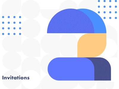 2x Dribbble invites composition illustration balance invite invitation giveaway color dribbble