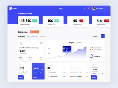 Smart Banking Assistant - Dashboard chart cryptocurrency gauge design finance web graph fintech digital branding bank app business ui  ux design dasboard