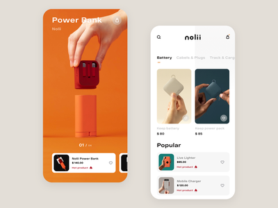 Product page for Store icon card product concept clean ios mobile interface design app ui