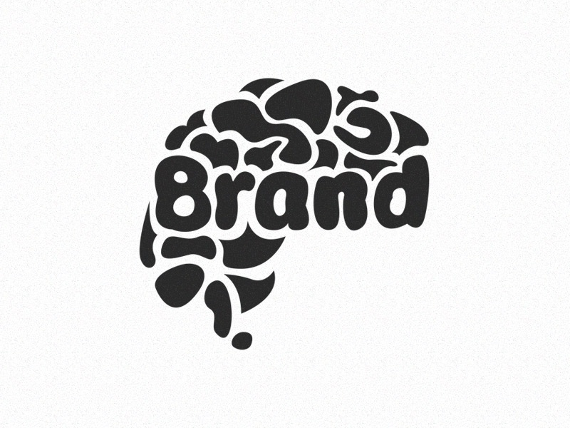 Brandbrain illustration logo sketch black and white