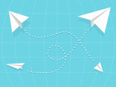 Quick e-mail planes on a grid sketch