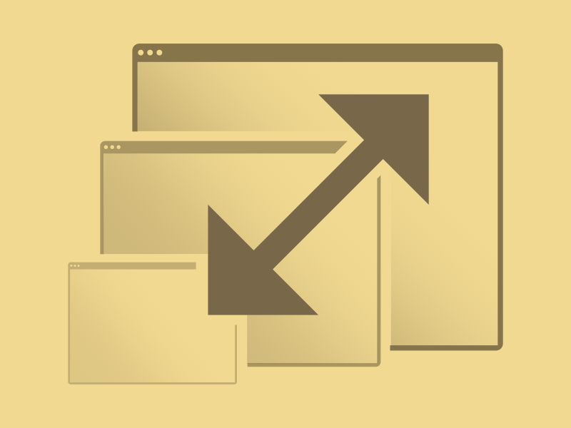 Scalable illustration scalable browser windows arrow