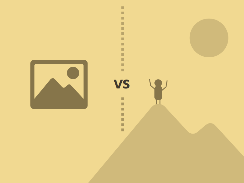 PSD mockups vs HTML/CSS mockups illustration scalable pictures mountains
