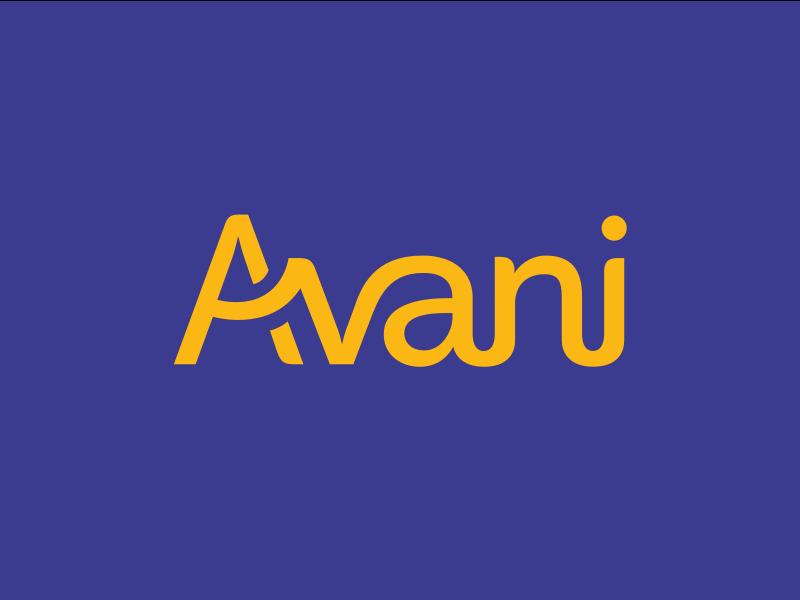 Avani logo concept avani purple yellow logo brand