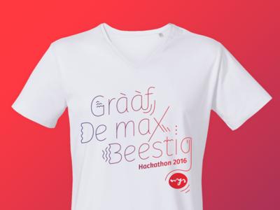 Wijs hackathon t-shirts hackathon typography t-shirt identity