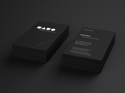 Naus business cards business cards black identity