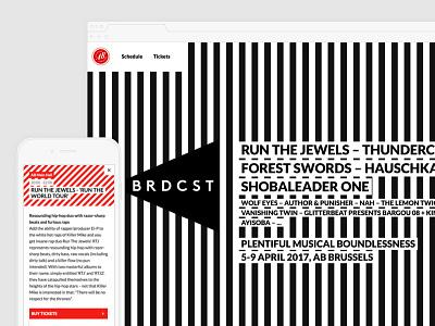 AB BRDCST red black onepager webdesign