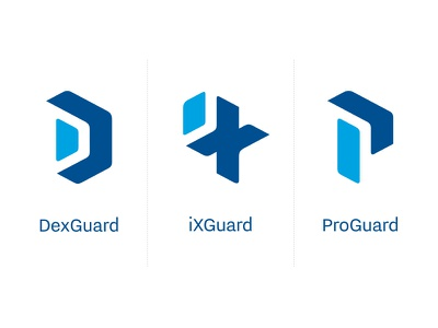Guardsquare Product logo's symbol logo blue