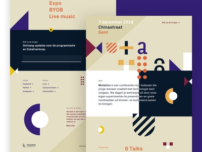 Mutation landing page draft website abstract shapes