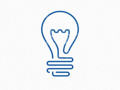 Lightbulb icon icon blue lightbulb line stroke