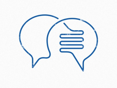 Communication icon icon blue communication chat message line stroke