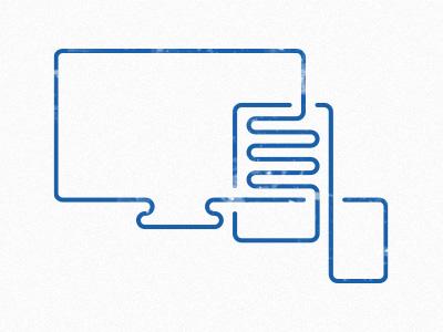 Responsive blue icon line stroke responsive screen