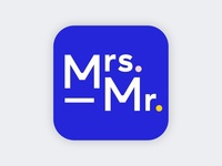 Mrs. & Mr. logo