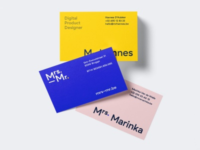 Mrs. & Mr. business cards busines card identity