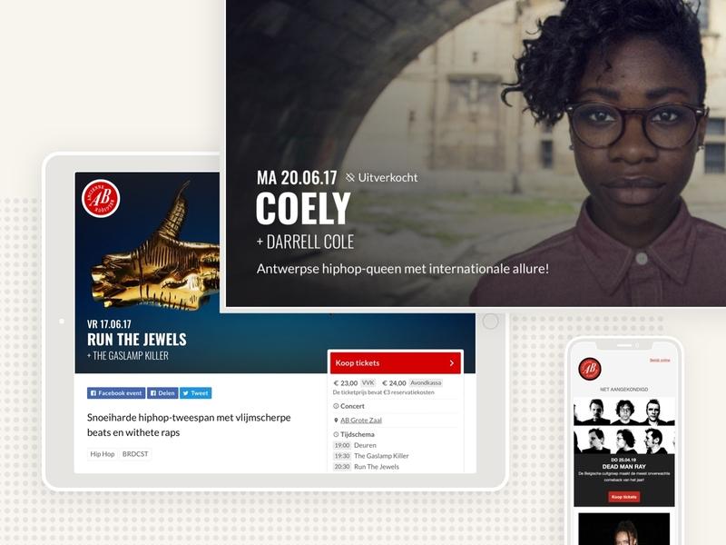 Ancienne Belgique communication system concert hall website