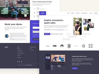 New website for Spott.ai website design