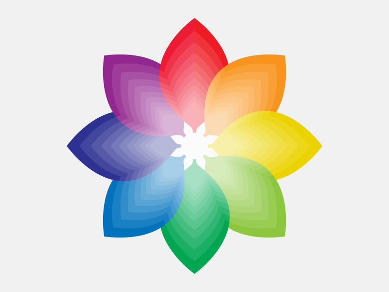 Color Wheel Icon By Lou Simeone