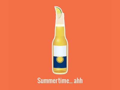 Summertime Illustration graphic design digital art lime red bottle adobe illustrator summer flat illustration illustration vector art vector