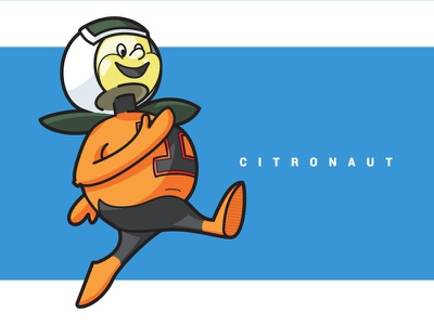 UCF Old Mascot the Citronaut illustration university florida orlando astronaut space orange logo character mascot