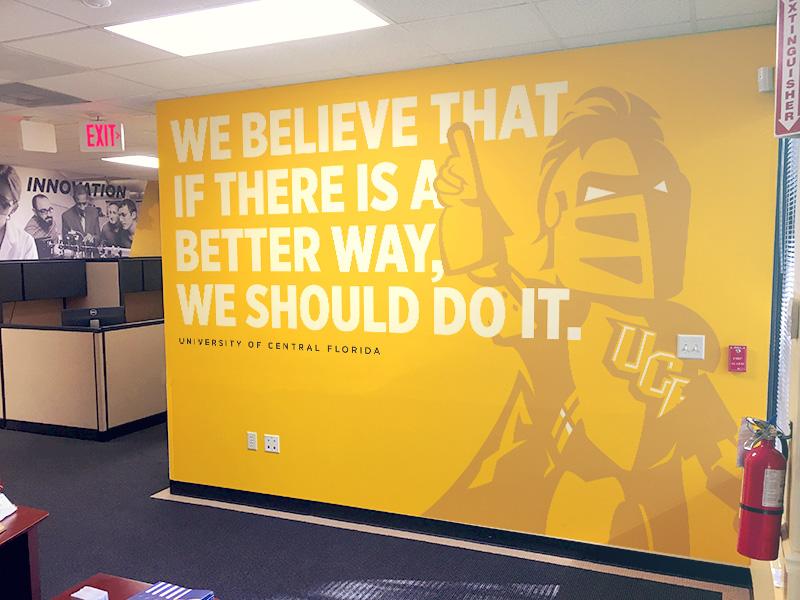 Ucf marketing wall wrap by adam smajstrla dribbble dribbble for Florida building code interior walls