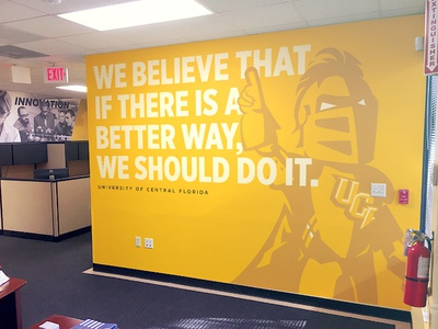 UCF Marketing Wall Wrap