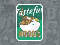Tasteful Noods Sticker Hawkers