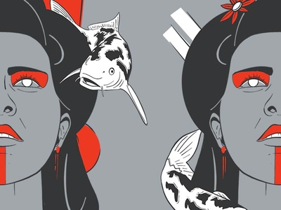 Geisha and Koi