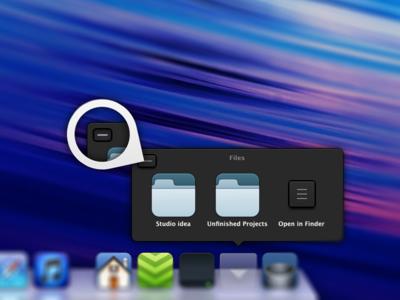 Dock menu redesign