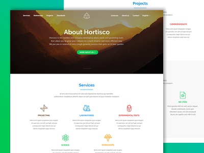 Company homepage template home corporate business company hero services agriculture horticulture redesign website web design homepage